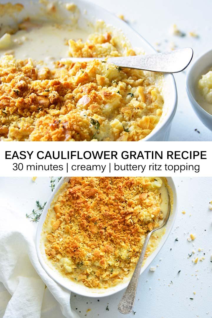 Easy Cauliflower Gratin Recipe Pin