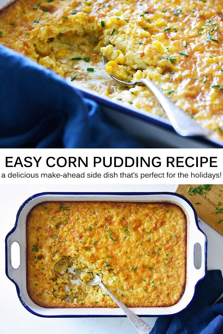 Easy Corn Pudding Recipe Pin