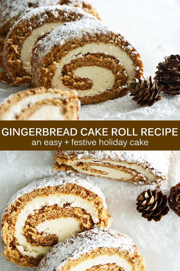Easy Gingerbread Cake Roll Pin