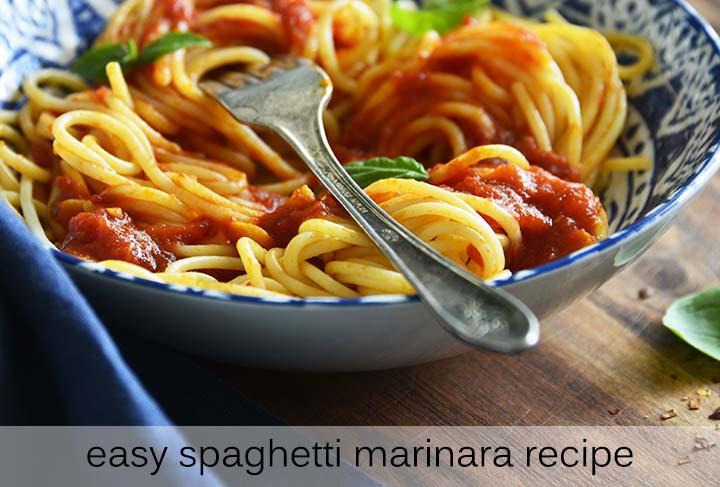 Easy Spaghetti Marinara Recipe with Description
