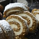Gingerbread Cake Roll Slices
