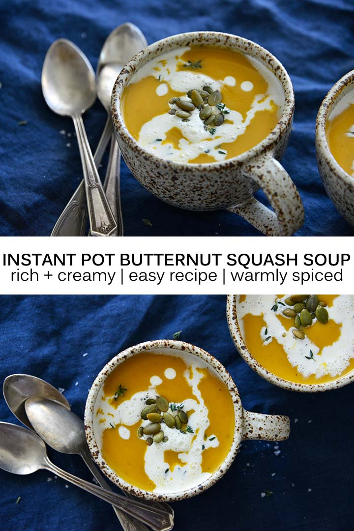 Instant Pot Butternut Squash Soup Recipe Pin