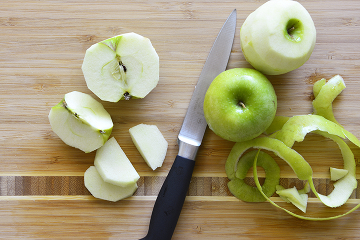 Peeling Granny Smith Apples