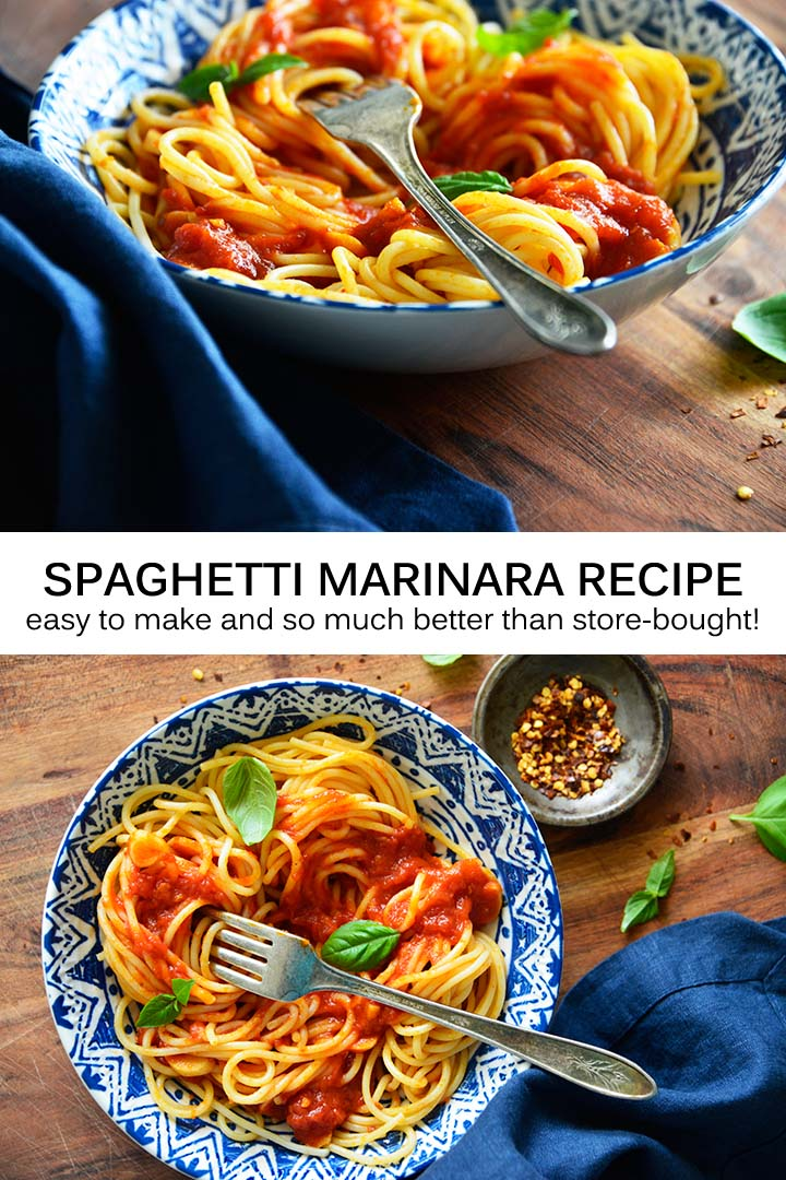 Spaghetti Marinara Recipe Pin