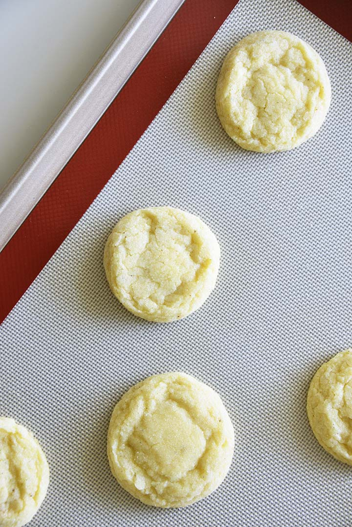 Baked Eggnog Cookies on Tray