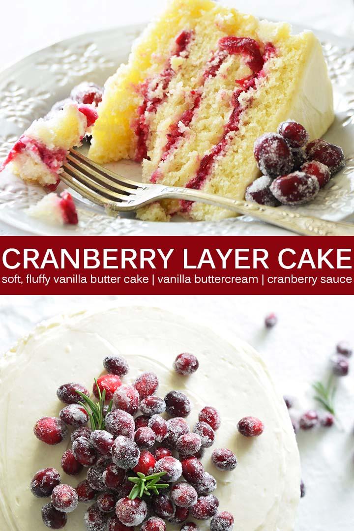 Cranberry Layer Cake Recipe Pin