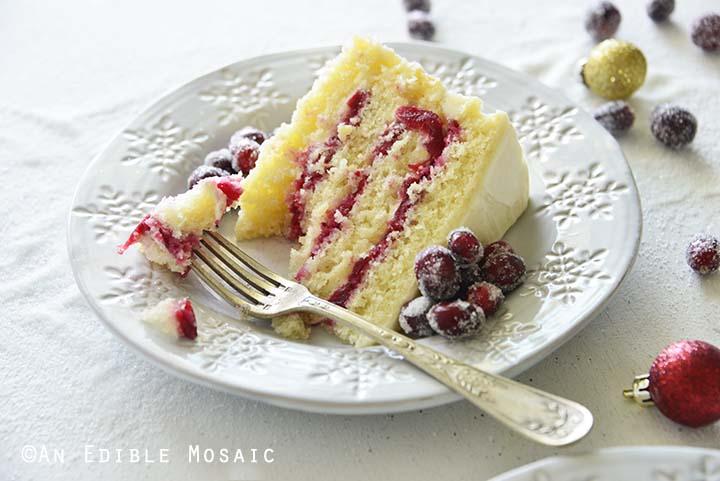 Eating Cranberry Cake