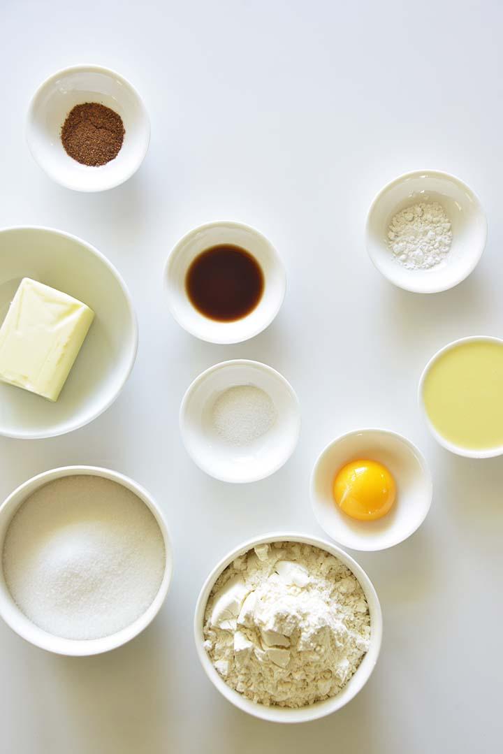 Eggnog Cookie Ingredients