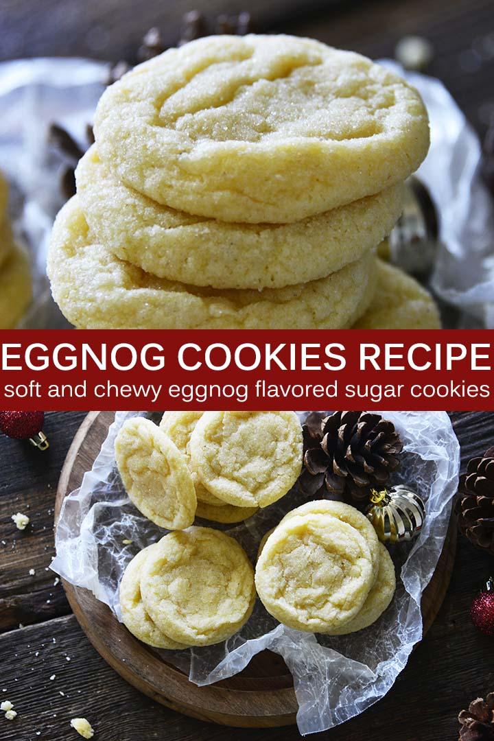 Eggnog Cookies Recipe Pin