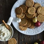 Gingersnap Cookie Recipe on White Snowflake Plate
