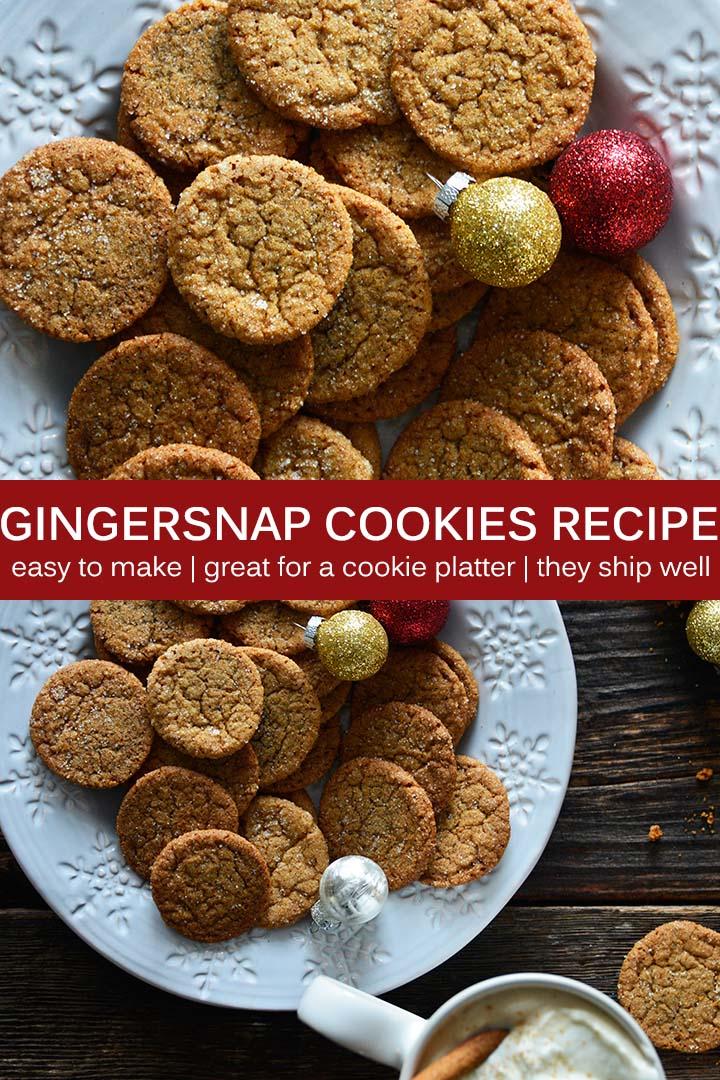Gingersnap Cookie Recipe Pin