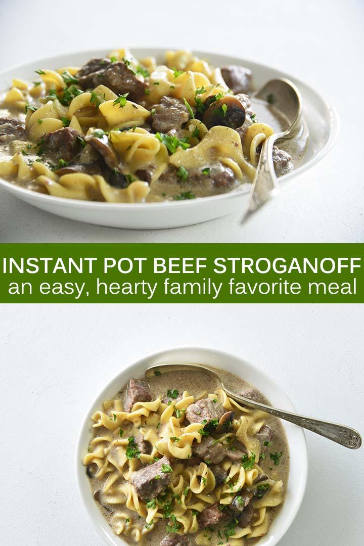 Instant Pot Beef Stroganoff Recipe Pin