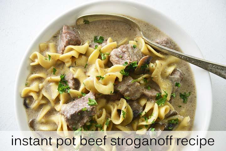 Instant Pot Beef Stroganoff with Description