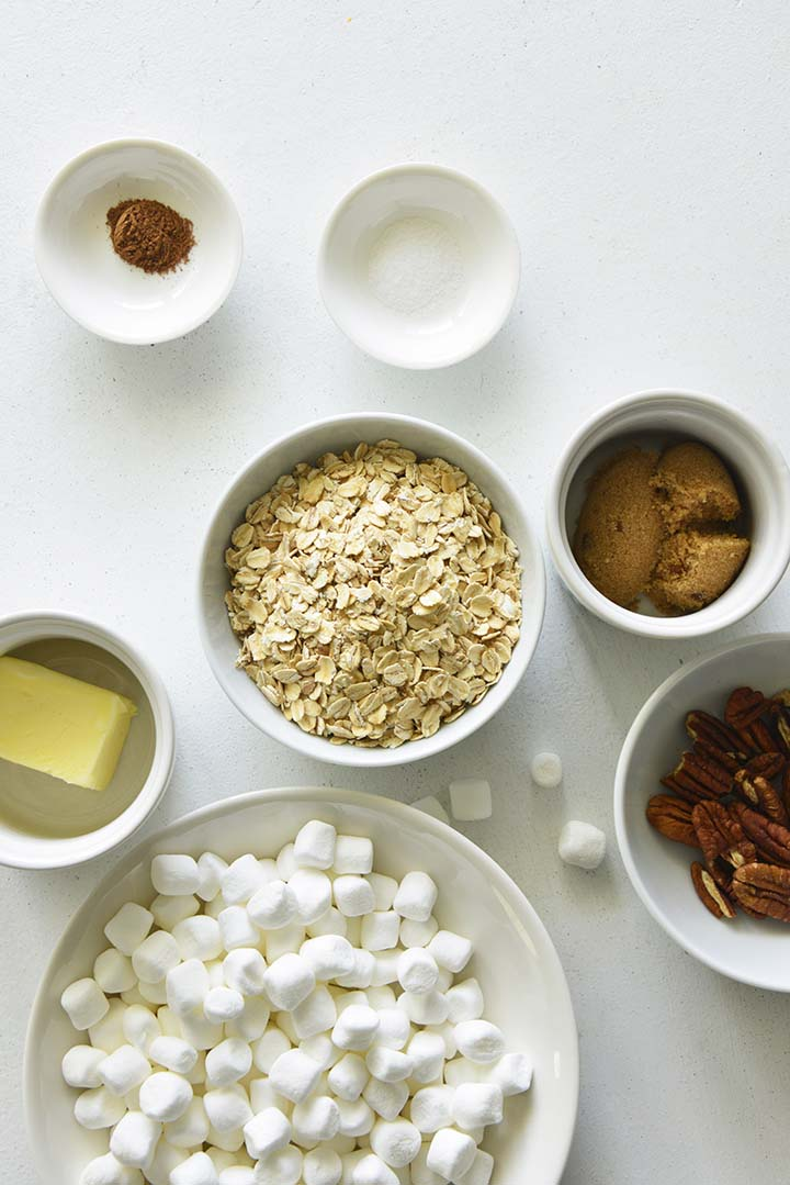 Oatmeal and Pecan Streusel Topping Ingredients