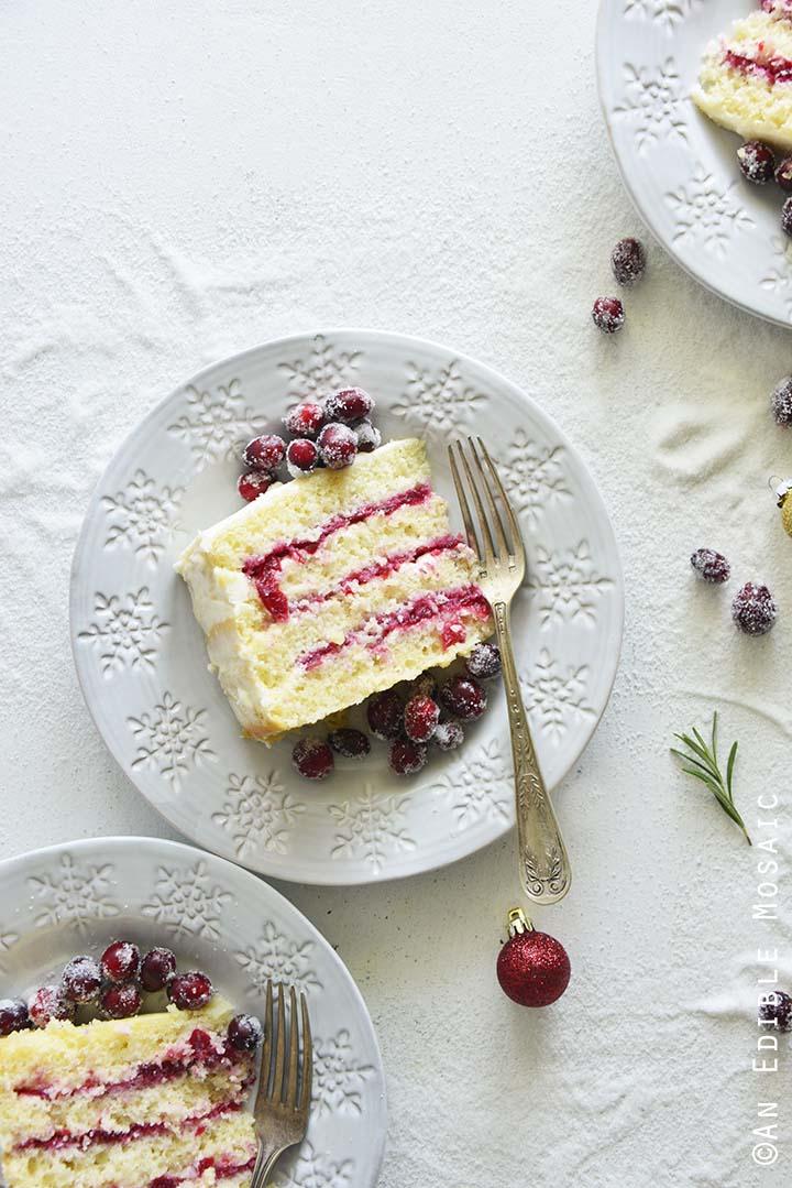 Sliced Cranberry Layer Cake