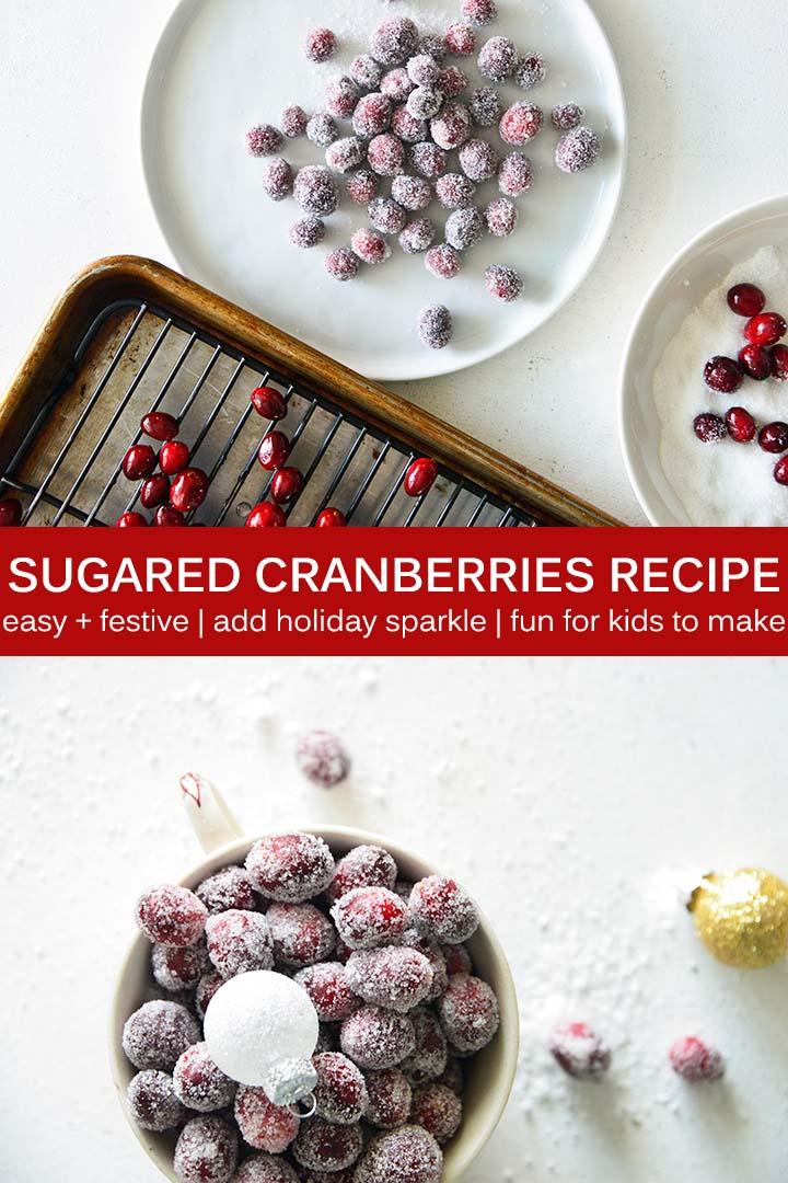 Sugared Cranberries Recipe Pin