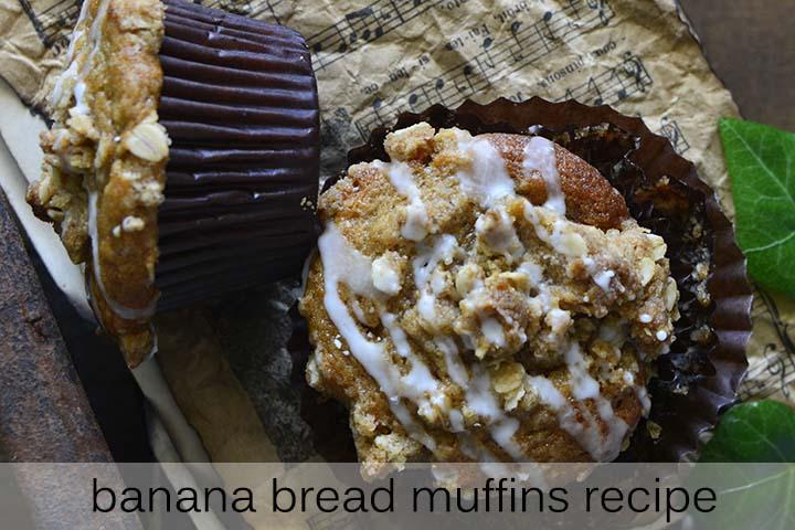 Banana Bread Muffins Recipe with Description