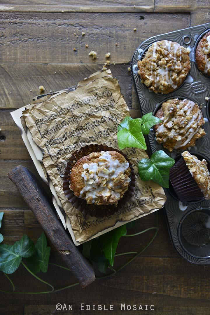 Banana Bread Muffins Recipe on Music Sheets