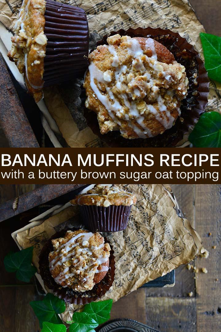 Banana Muffins Recipe Pin