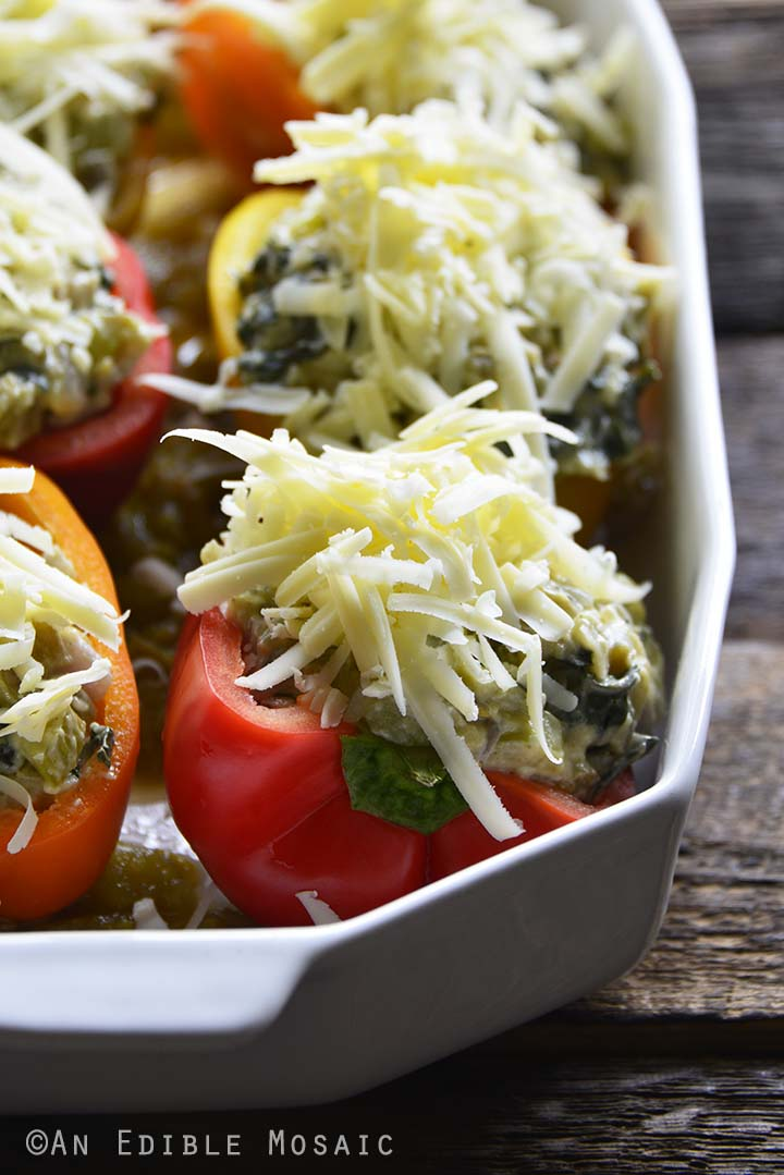 Cheese on Top of Keto Stuffed Peppers
