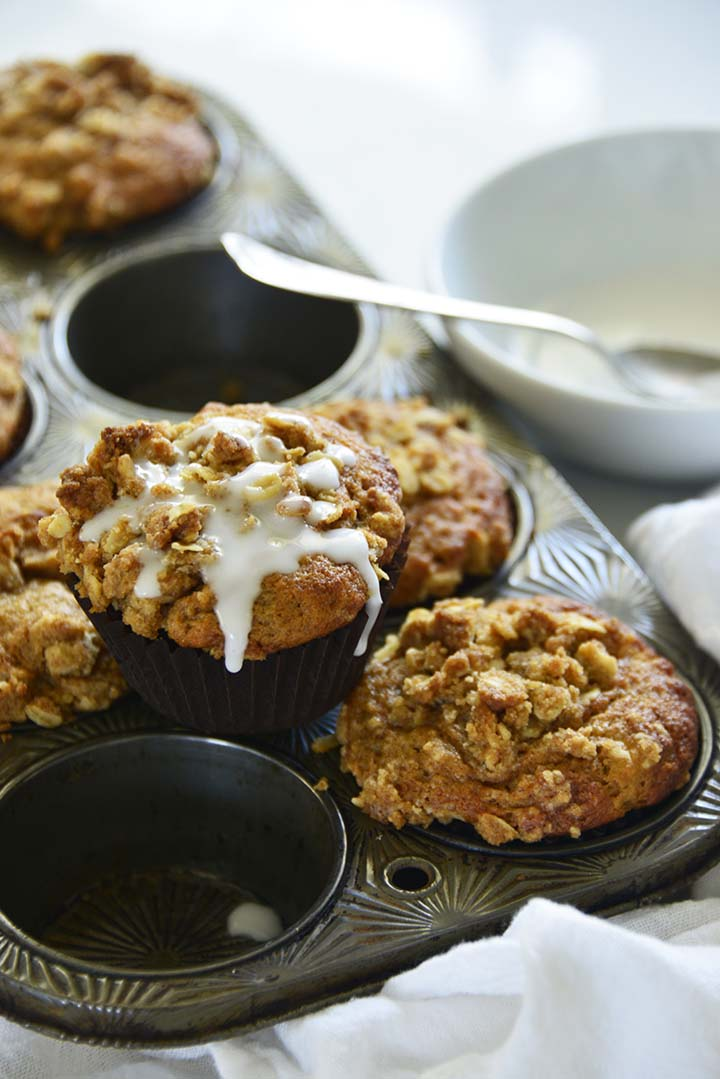 Drizzling Icing on Muffins