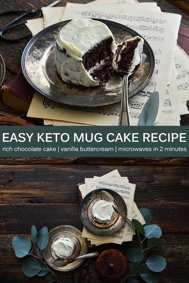 Easy Keto Mug Cake Recipe Pin