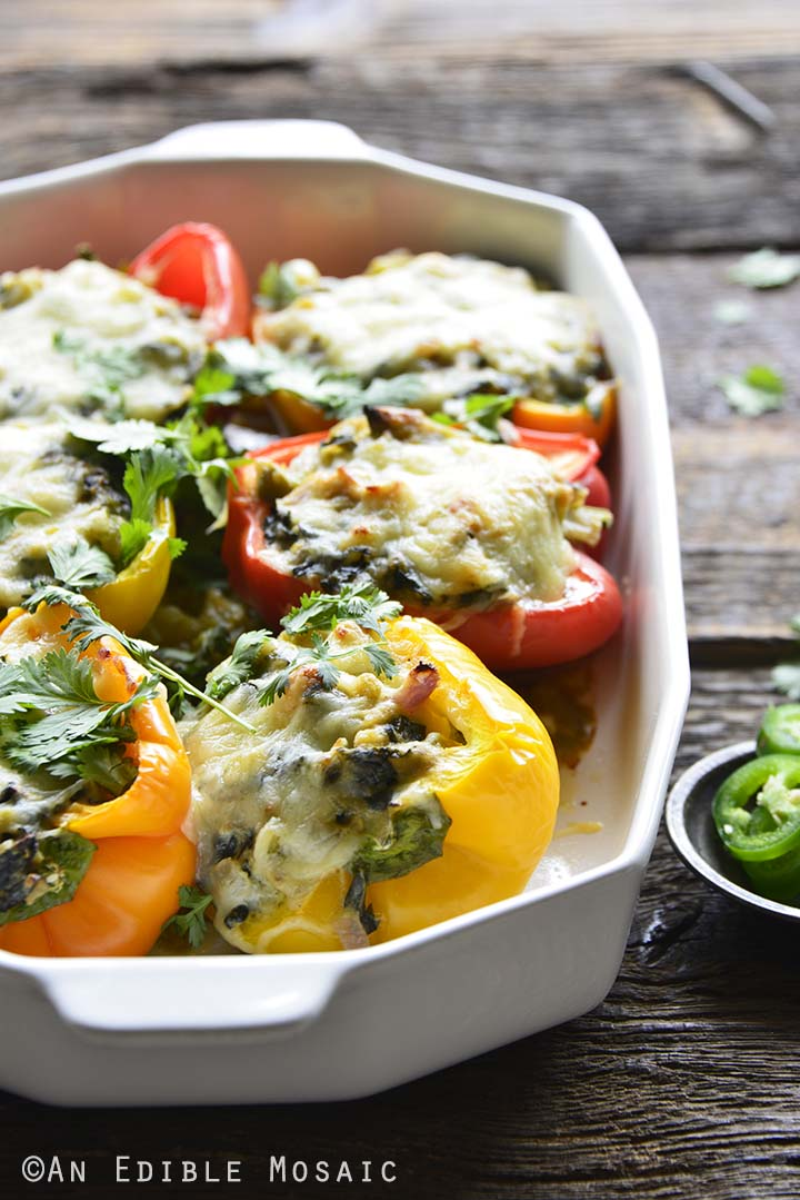 Front View of Mexican Keto Stuffed Peppers Recipe