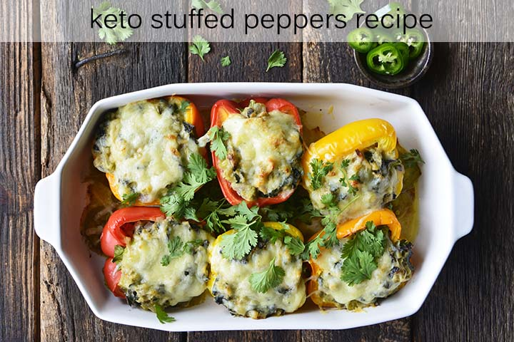 Mexican Keto Stuffed Peppers with Description