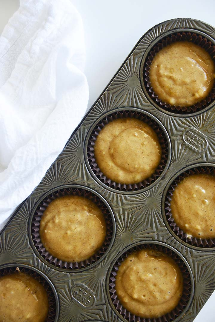 Muffin Tray with Batter