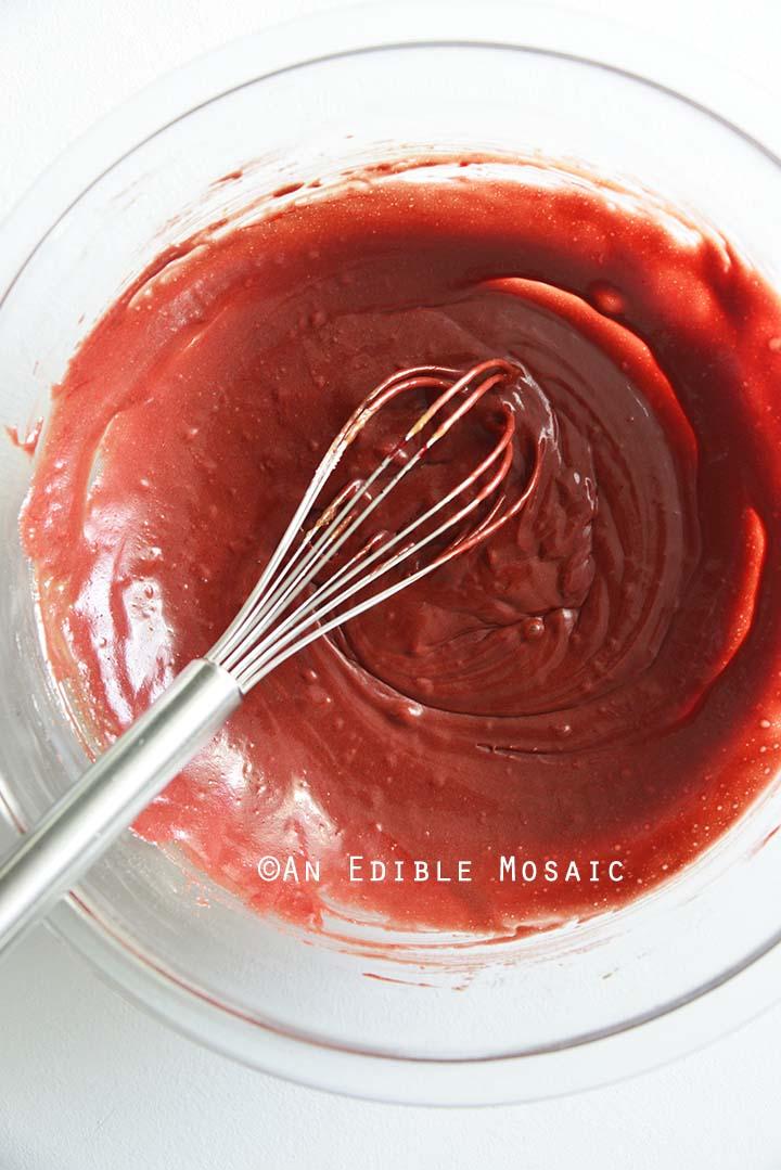 Red Velvet Cake Batter After Adding Red Food Coloring