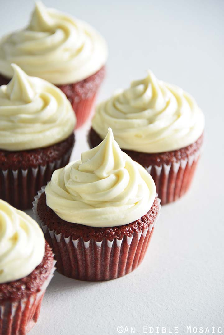Red Velvet Cupcakes Recipe on White Tabletop