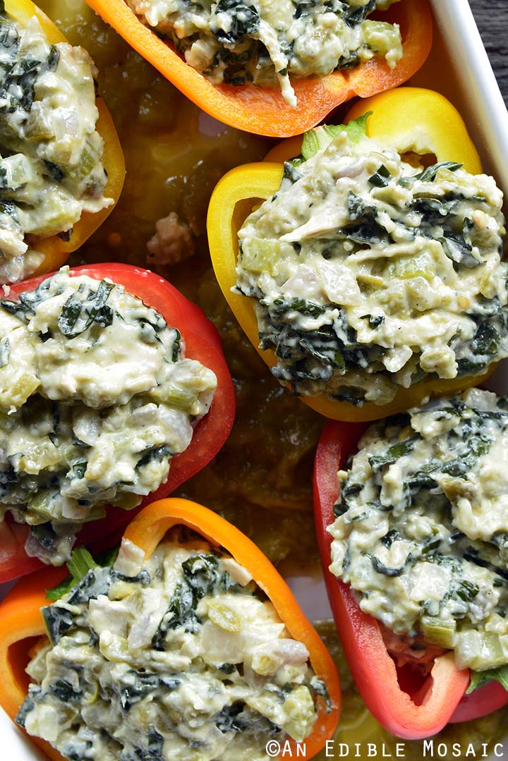 Stuffed Peppers Before Baking