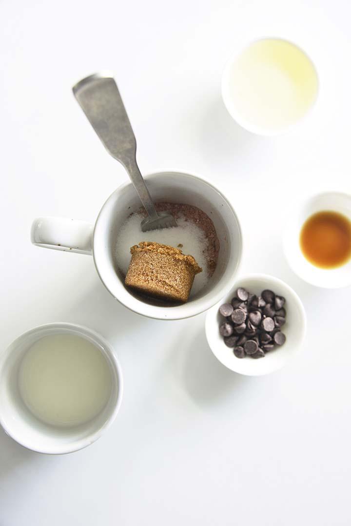 Adding Sugars to Mug Cake