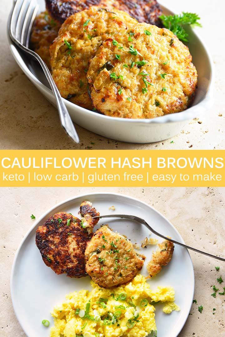 Cauliflower Hash Browns Recipe Pin