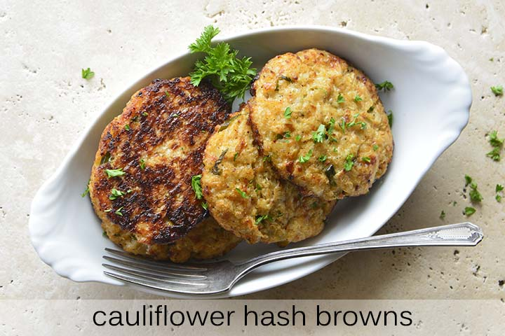 Cauliflower Hash Browns with Description