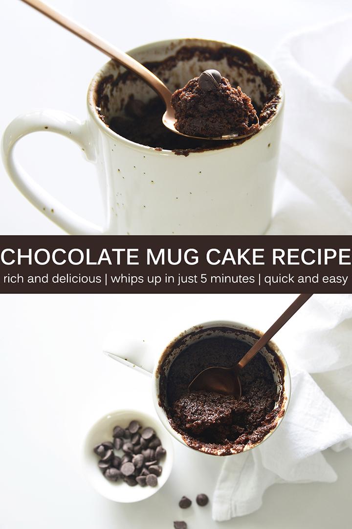Chocolate Mug Cake Recipe Pin