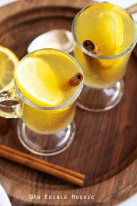 Hot Toddy with Cinnamon Stick and Lemon