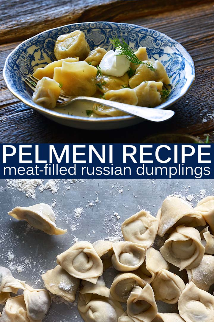 Meat Filled Russian Dumplings Recipe Pin
