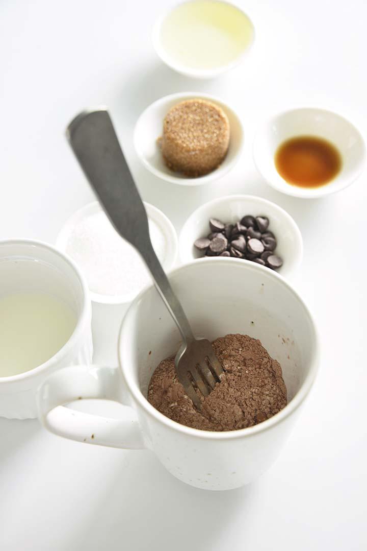 Mixing Dry Ingredients for Mug Cake