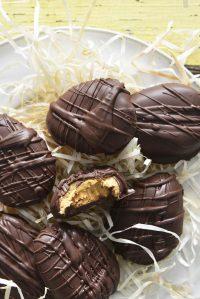 3 Ingredient Chocolate Peanut Butter Eggs Recipe Featured Image