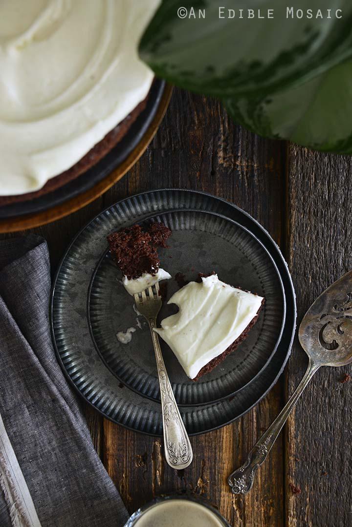 Half Eaten Slice of Chocolate Guinness Cake