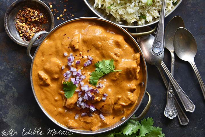 Top View of Low Carb Butter Chicken