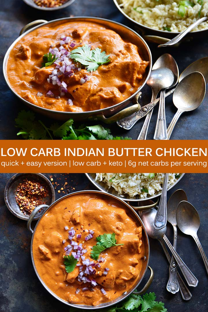 Low Carb Indian Butter Chicken Recipe Pin
