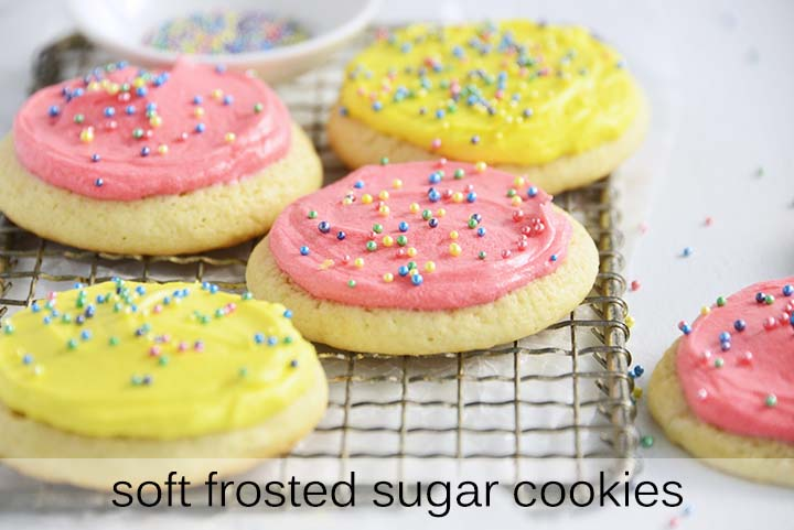 Soft Frosted Sugar Cookies with Description