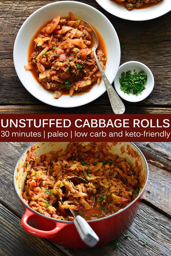 Unstuffed Cabbage Rolls Recipe Pin