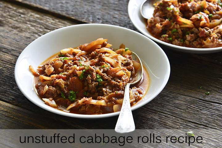Unstuffed Cabbage Rolls Recipe with Description
