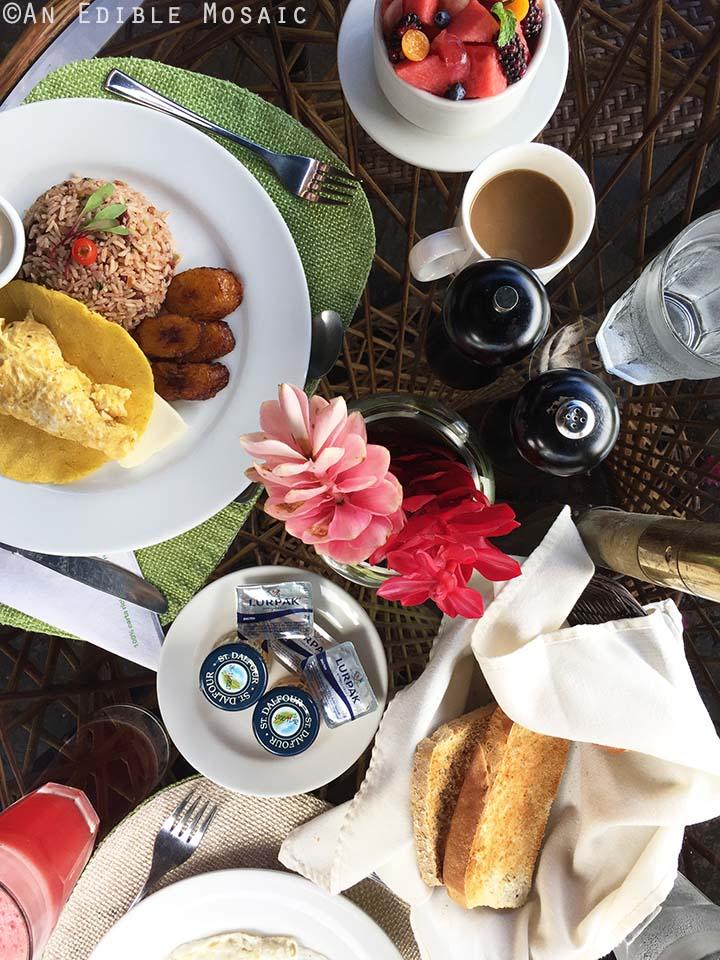 Breakfast Spread in Costa Rica