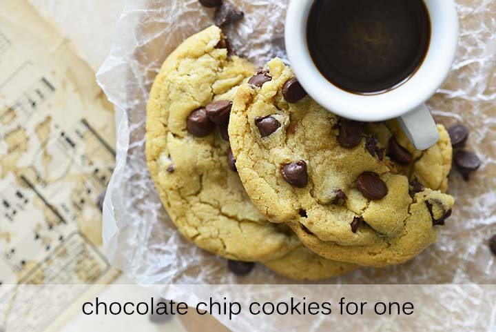 Chocolate Chip Cookies for One with Description