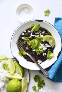 Cuban Black Beans Recipe in White Bowl