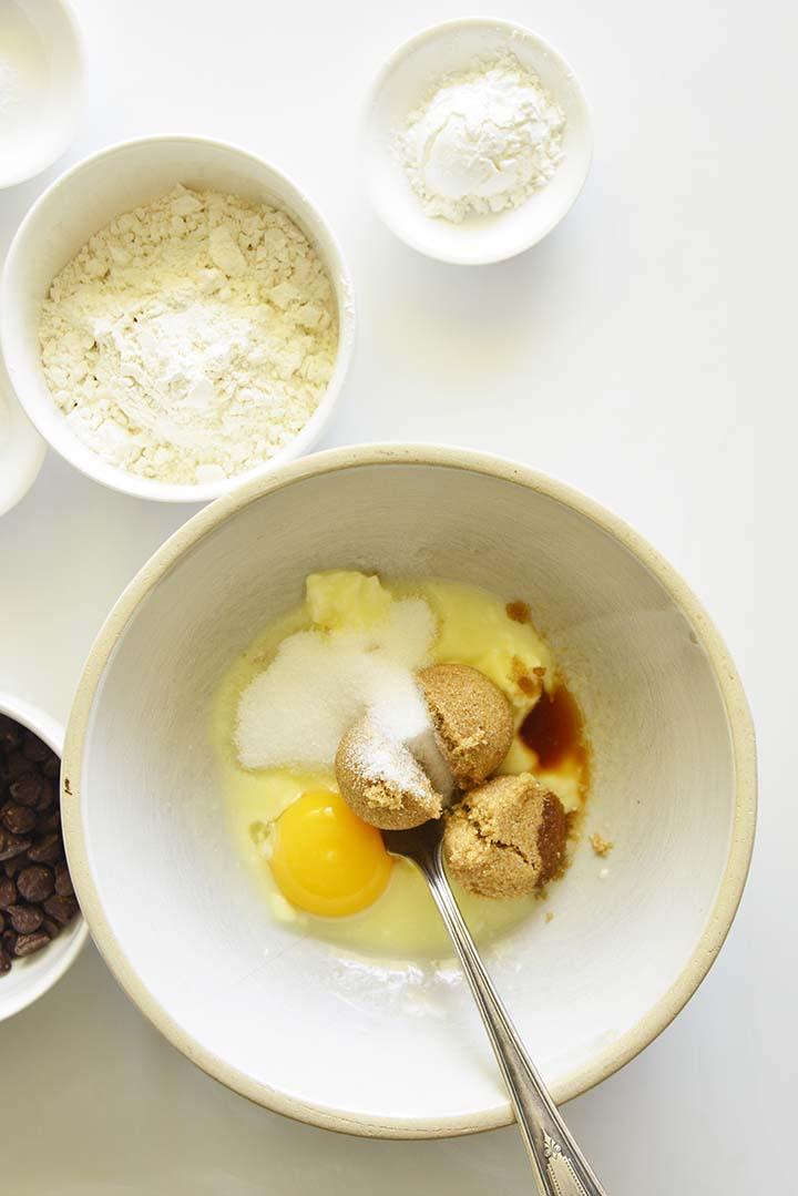 Mixing Wet Ingredients for Cookies